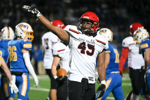 Eden Prairie linebacker Justice Sullivan will play football for Iowa, he announced Sunday. He is the son of Jake Sullivan, former Tartan and Iowa Stat
