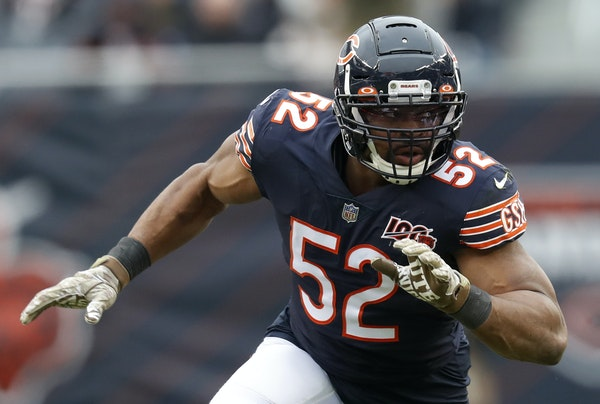 Chicago Bears outside linebacker Khalil Mack
