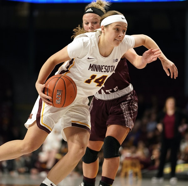 Gophers freshman guard Sara Scalia made two three-pointers and had eight points off the bench vs. Missouri State in her college debut on Tuesday.