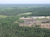 Twin Metals underground mine location: Aerial view of the area that would be mined by Twin Metals.