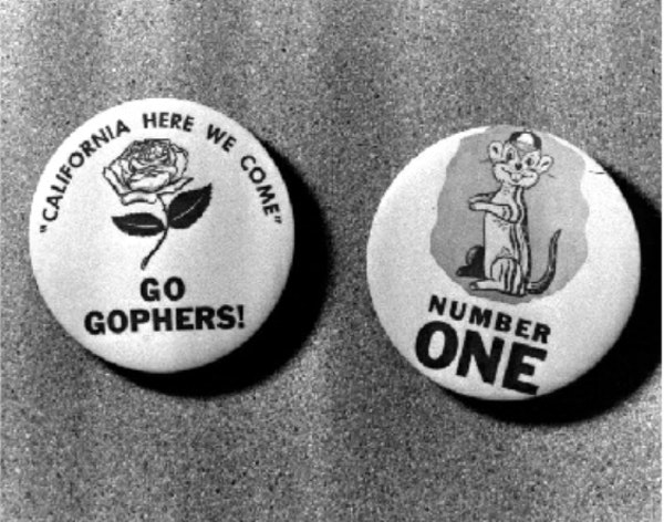 Fifty-nine years ago, this button helped get Gophers fans excited for what would be the first of the school's two Rose Bowls.