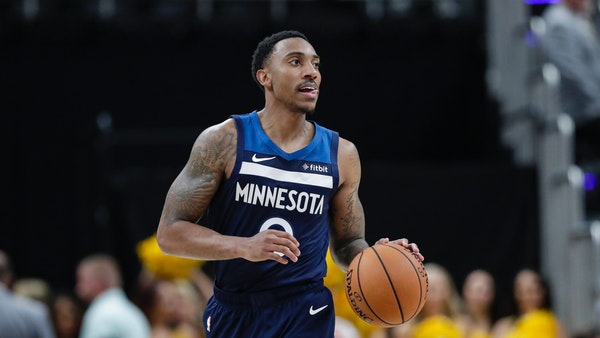 Minnesota Timberwolves guard Jeff Teague (0) during the second half of an NBA preseason basketball game against the Indiana Pacers in Indianapolis, Tu