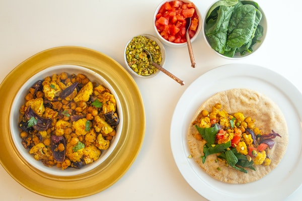 Recipe: Sheet Pan Cauliflower-Chickpea Shawarma