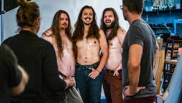 Shenanigans on display during Travail sexy chef calendar shoot