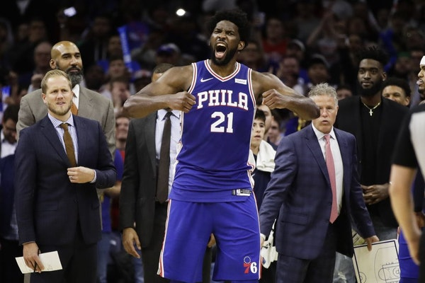 Robert Covington was Joel Embiid's teammate before being traded to the Wolves in the Jimmy Butler deal.