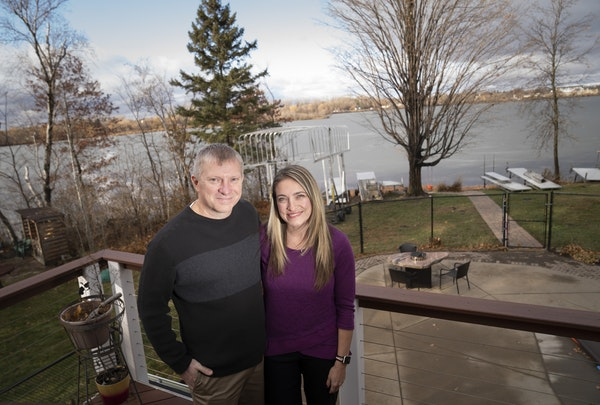 """Kurt and Lindsey Carpenter live on East Goose Lake. """"The boating restrictions feel very heavy-handed,"""" Lindsey Carpenter said."""