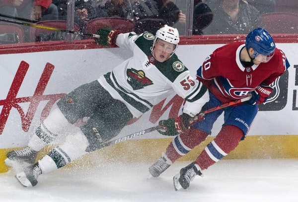 """Wild defenseman Nick Seeler, above vs. the Canadiens last month, is excited about getting the chance to play because of Jared Spurgeon's injury: """""""