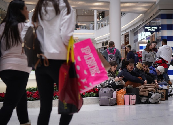 Shoppers flocked to the Mall of America in Bloomington for Black Friday deals.