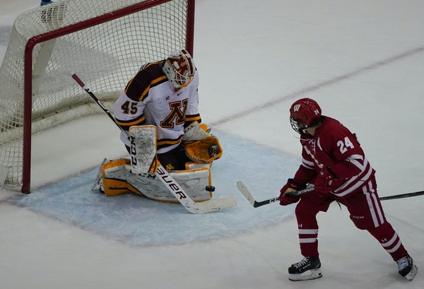 Minnesota goaltender Jack Lafontaine played well vs. Wisconsin but the Gophers were defeated 9-3 last week in a series opener with North Dakota.