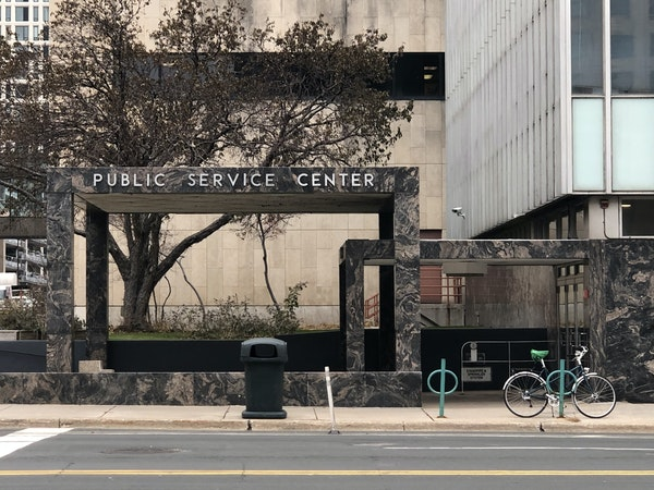 Oh, that one: the Public Service Center in Minneapolis.
