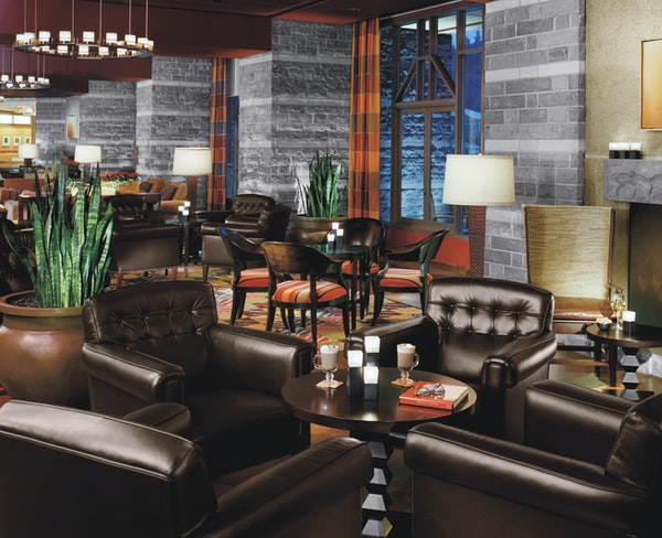 A common area at the Four Seasons Resort Whistler in British Columbia.
