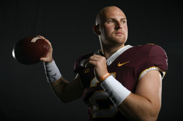 If a meme-worthy hip-flexing warm-up routine is a staple for the pros, the Gophers' Tanner Morgan sees no problem with using it to perfect his form.