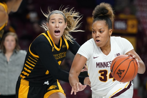 Gophers guard Gadiva Hubbard, above vs. Milwaukee last week, has scored in double figures the past three games and had 20 her last game.