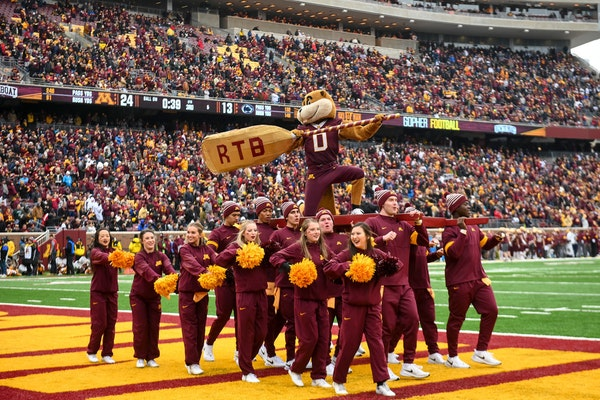 Goldy Gopher and the cheer squad are expected to be busy on New Year's Day.