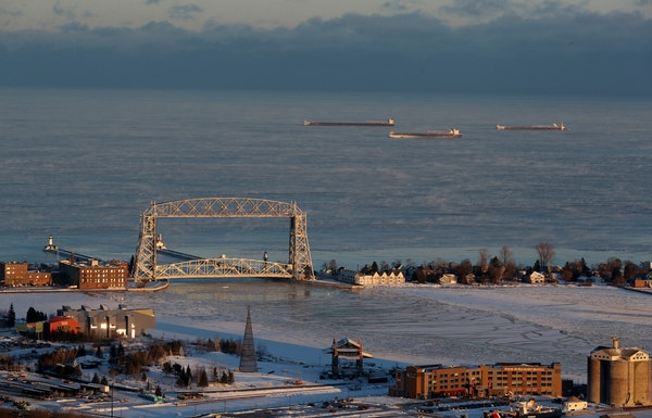 The Aerial Lift Bridge has been stuck in the down position since 1 p.m. Monday, Dec. 2.