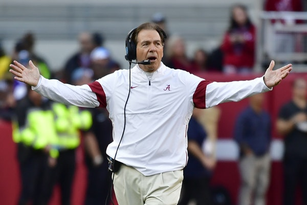 Alabama coach Nick Saban knows his team can't afford another loss.