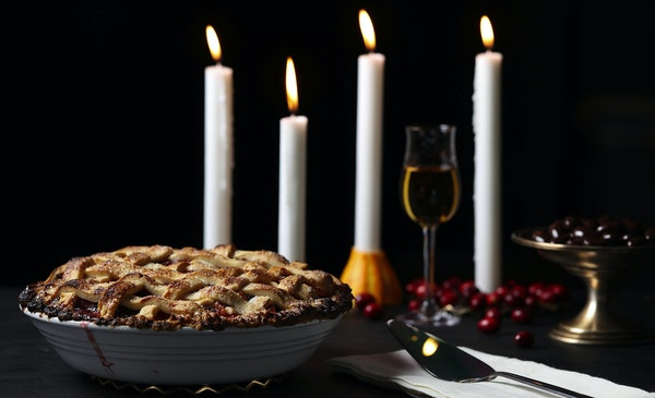 Pears and cranberries partner for a fall-forward pie of flavor and textural contrasts, with fresh and dried versions of the berries playing off each o