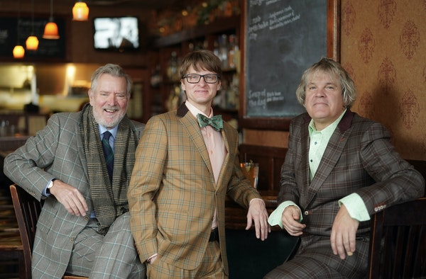 Plaid lads: Chan Poling, Steve Roehm and John Munson of the New Standards met up at the Sample Room in northeast Minneapolis before a rehearsal last w