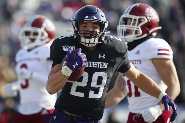 Maple Grove native Evan Hull provided an unexpected boost for Northwestern last week.