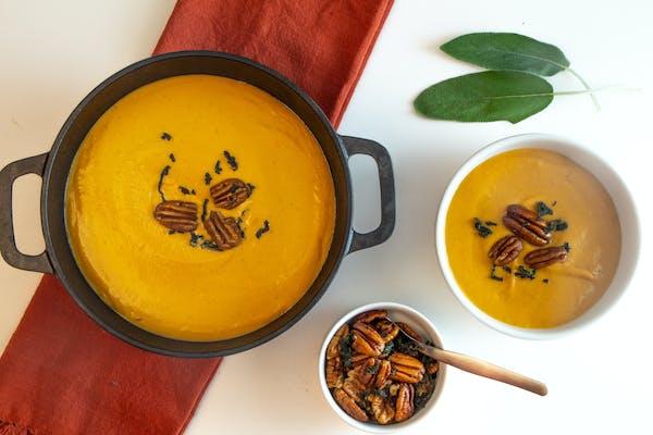Recipe: Sweet Potato and Pecan Soup