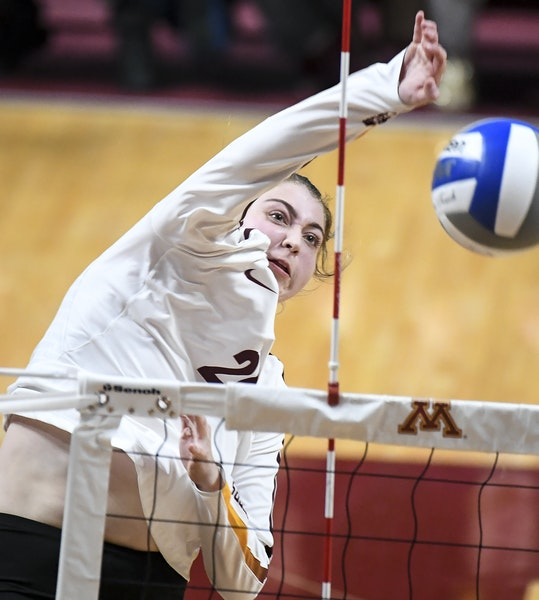 Middle blocker Regan Pittman and the Gophers volleyball team are headed to the Sweet 16.