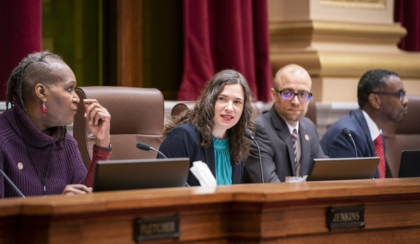 City Council President Lisa Bender, center, and other council members voted to approve the 2040 Comprehensive Plan on Dec. 7.
