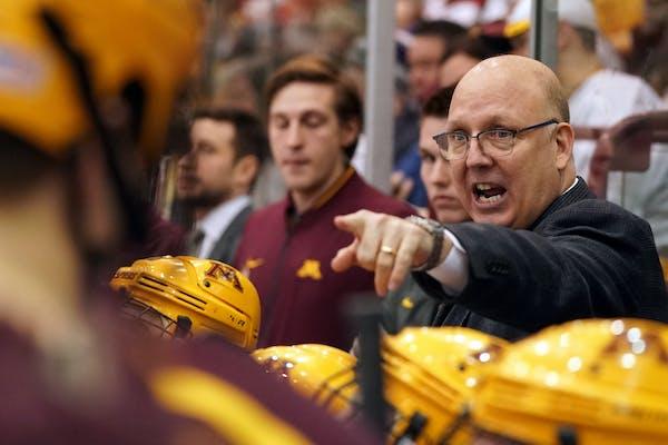 Gophers hockey coach Bob Motzko.