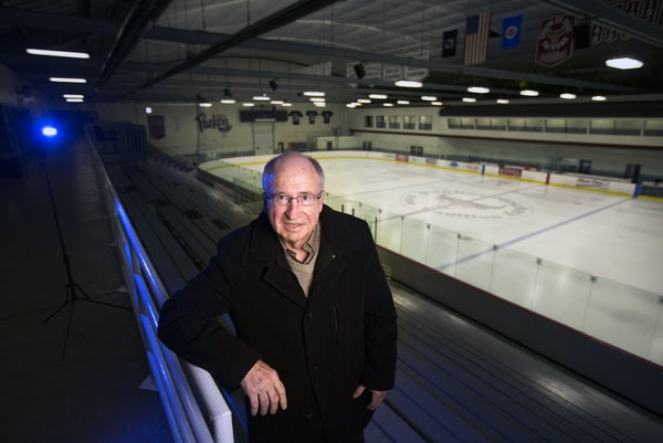 Former Gophers hockey coach Doug Woog at the Doug Woog Arena, the former Wakota Arena in South St. Paul that was renamed in his honor.