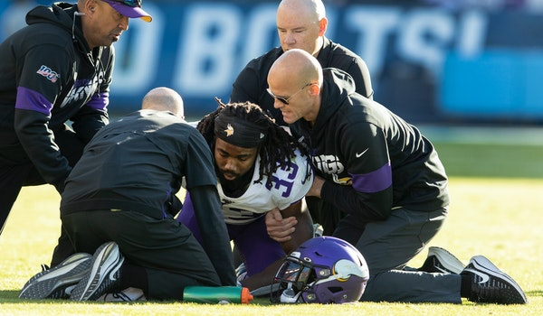 The Vikings built their offense around running back Dalvin Cook. Now he has two bad shoulders after being injured in the third quarter against the Cha