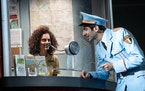 """Sara Kapner and Joe Joseph in the touring production of """"The Band's Visit."""""""