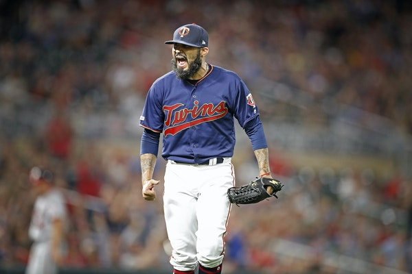 Sergio Romo joined the Twins at the trade deadline last season.
