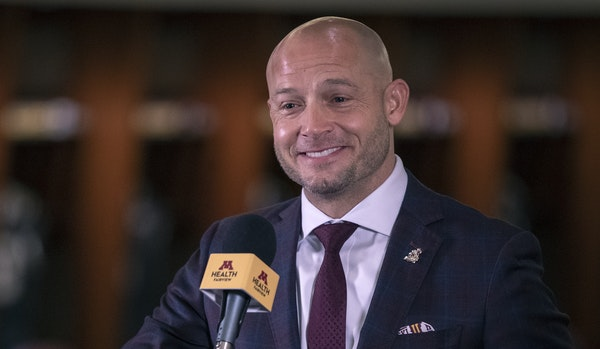 Gophers coach P.J. Fleck on Wednesday spoke to reporters about his recruiting class in the team locker room.