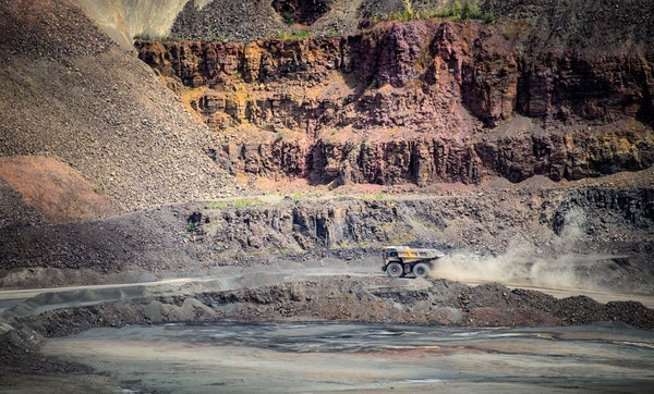 The MINNTAC taconite mine in Mountain Iron, Minn. State budget officials credited tariffs on imported steel with helping bolster the economy of the Ir
