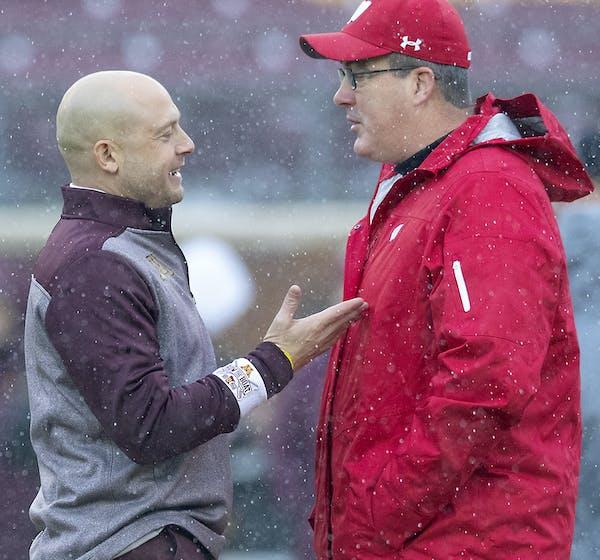 Gophers coach P.J. Fleck met with Wisconsin's Paul Chryst last week.