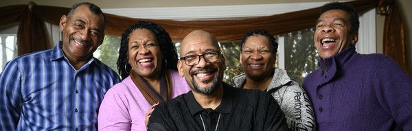 From left, siblings Fred, Jearlyn, Billy, Jevetta and J.D. Steele stood for a portrait on Friday, Dec. 6, 2019 at the home of Jevetta Steele in Golden
