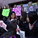 Supporters of the University of Minnesota student who accused Chinese billionaire Richard Liu of rape rallied at the Hennepin County Government Center
