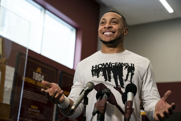 Gophers safety Antoine Winfield Jr. addressed the media Friday at the Athletes Village.