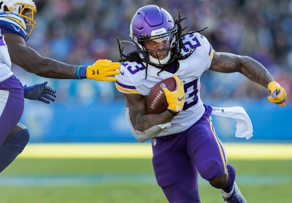 Running back Mike Boone has 18 carries for 69 yards and two touchdowns in the Vikings' past two games.