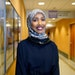 Hilal Ibrahim's hijab creations are attractive and durable for hospital workers.