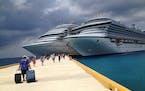 Carnival cruise ships in Cozumel, Mexico in 2014.