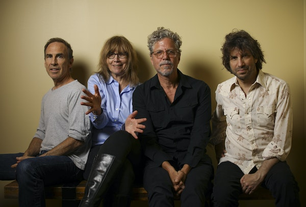 The Jayhawks return to the Palace Theatre on Saturday fresh off recording a new album. From left: Tim O'Reagan, Karen Grotberg, Gary Louris and Mark P
