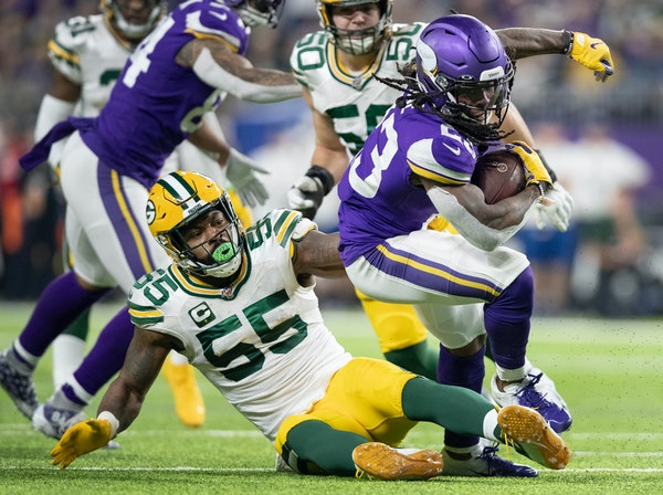 Running back Mike Boone (23) is expected to get his second start for the Vikings on Sunday against the Bears. He had 11 carries for only 28 yards in M
