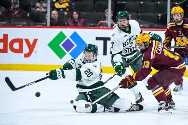 The Gophers and Bemidji State last met in the 2017 North Star College Cup at Xcel Energy Center. On Saturday at 3M Arena at Mariucci, they'll face off