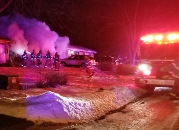 Maple Grove fire crews found heavy flames when they arrived on the 6700 block of N. Zinnia Lane and could not enter the home until they had fought the