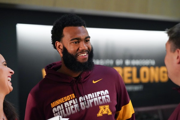 Defensive lineman Winston DeLattiboudere has spent five years with the Gophers, and he will have played in every game his entire career, starting 35 o