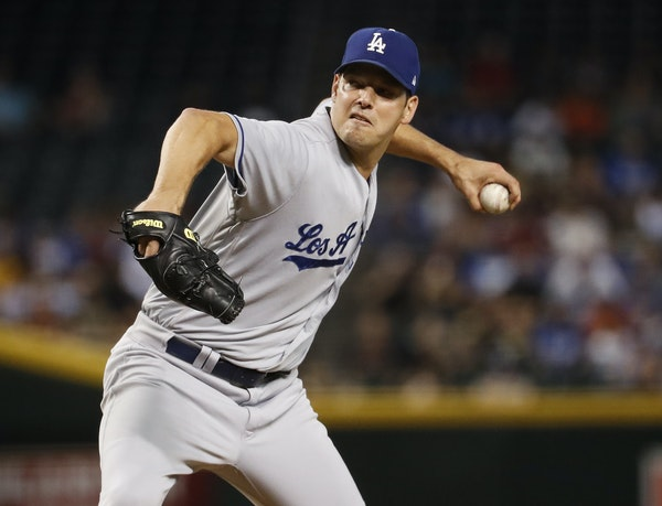 Rich Hill during the 2017 World Series.