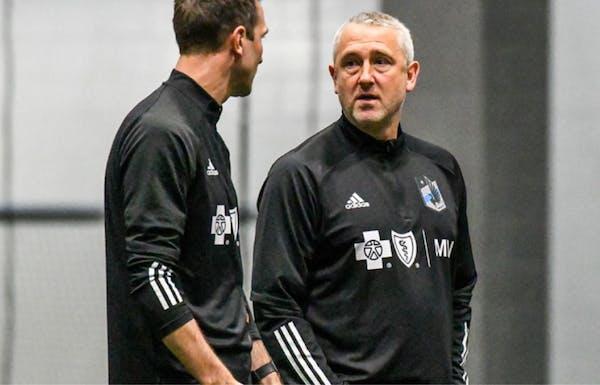 Sean McAuley, Minnesota United assistant coach. Photo courtesy Minnesota United