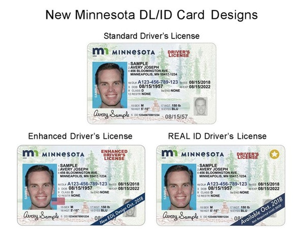 A look at several Minnesota driver's licenses that were made available starting in 2018.