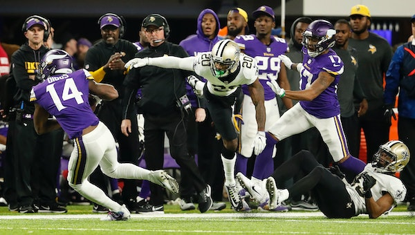 """Vikings receiver Stefon Diggs says he's often asked about the """"Minneapolis Miracle"""" -- his 61-yard touchdown reception on the game's final play to bea"""