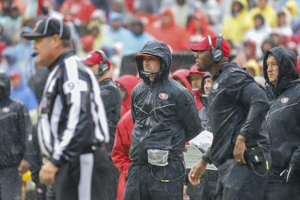 San Francisco 49ers coach Kyle Shanahan.